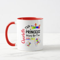 Princess Super Cute Autism Awareness Personalized Mug