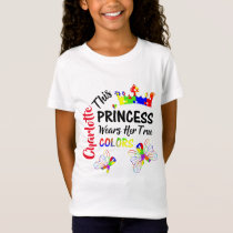 Princess Super Cute Autism Awareness Personalized T-Shirt
