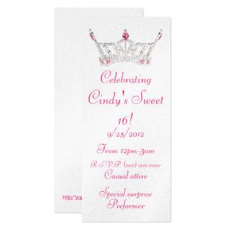 Princess sweet 16 invitations