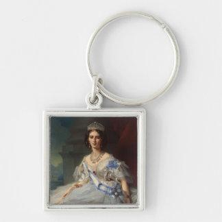 Princess Tatiana Alexandrovna Yusupova, 1858 Silver-Colored Square Keychain