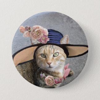PRINCESS TATUS /ELEGANT CAT,BIG DIVA HAT AND ROSES BUTTON