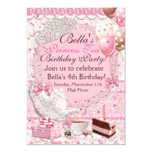Princess Tea Party Invitation