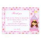 Princess Thank You Card Girl Birthday Baby Shower