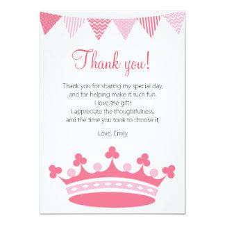 Princess Thank You Card Pink Girl