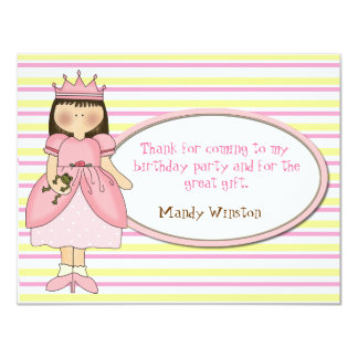 Princess Thank You Cards Personalized Announcements