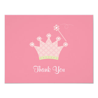 Princess Thank You Note Custom Announcements
