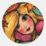 Princess & The Pea Classic Round Sticker