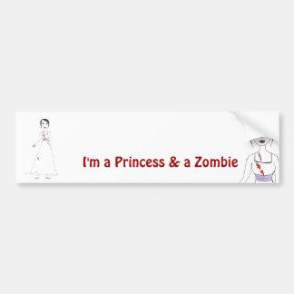 Princess the Zombie the second Car Bumper Sticker