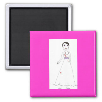 Princess the Zombie the second 2 Inch Square Magnet