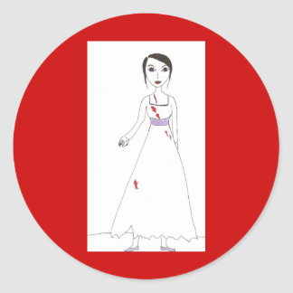 Princess the Zombie the second Classic Round Sticker