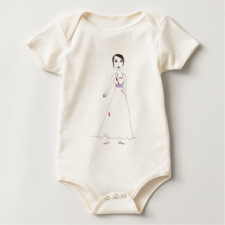 Princess the Zombie the second Baby Bodysuits