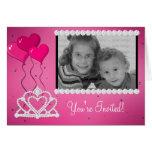 Princess Theme Photo Template Birthday Invitation Greeting Cards