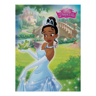 Princess Tiana in the Garden Poster