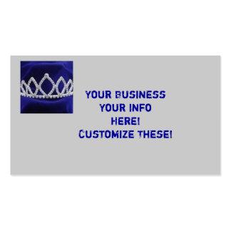 Princess Tiara Business Cards