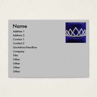 Princess Tiara Business cards Chubby