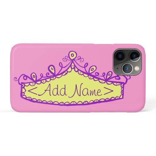 Princess Tiara Crown Custom Name iPhone Case