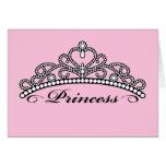 Princess Tiara Greeting Card (pink background)