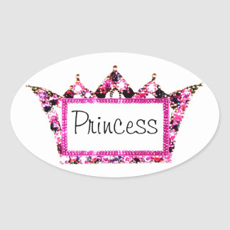 """Princess"" Tiara Label Stickers"