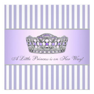 Princess Tiara Lavender Purple Baby Girl Shower Invitation