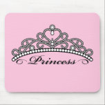 "Princess Tiara Mouseapad (pink background) Mouse Pad<br><div class=""desc"">Once a princess,  always a princess. We do hope you will approve of this original vector art tiara – feel free to customize,  of course!</div>"
