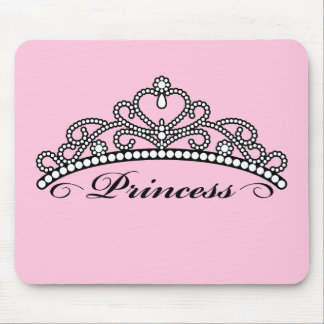 Princess Tiara Mouseapad (pink background) Mouse Pad