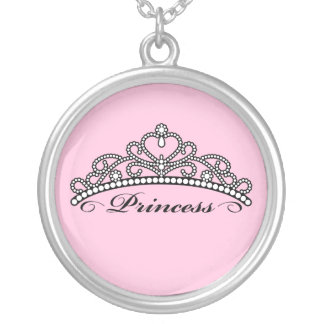 Princess Tiara Necklace (pink background)