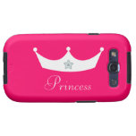 Princess Tiara Personalized Pink Galaxy SIII Cases