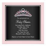 Princess Tiara Pink Princess Baby Shower Invite