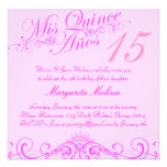 Princess Tiara Pink Quinceanera Invitation