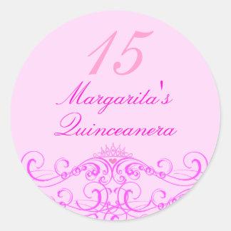 Princess Tiara Pink Quinceanera Sticker
