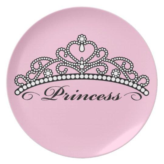 Princess Tiara Plate (pink background)