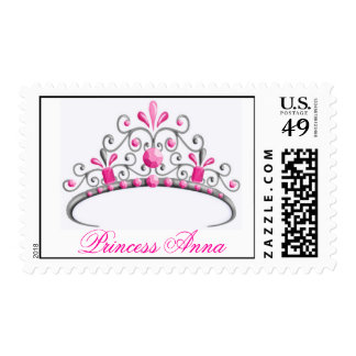 Princess Tiara Postage Stamps