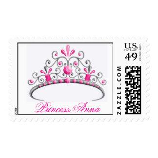 Princess Tiara Postage Stamps