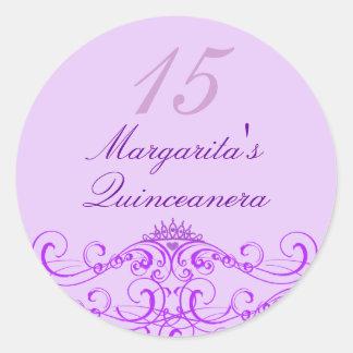Princess Tiara Purple Quinceanera Sticker