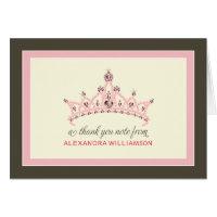 Princess Tiara Thank-You Card (pink)