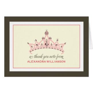 Princess Tiara Thank-You Card (white)