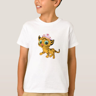 Princess Tiger Tigress Girls T-shirt Personalize