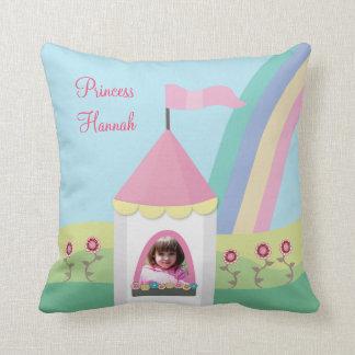 Princess Tower Rainbow Photo Pillow Cushion