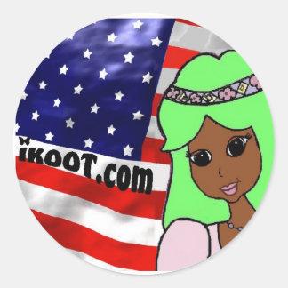 Princess Tropi  patriotic Classic Round Sticker