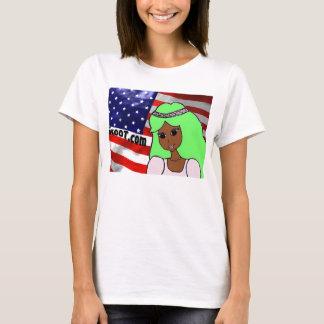 Princess Tropi with us flag T-Shirt