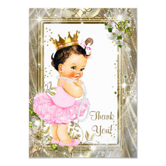 Princess Tutu Baby Shower Thank You Card