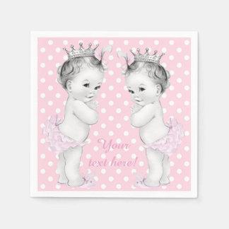 Princess Twin Girl Shower Napkin