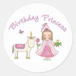 Princess Unicorn Birthday Girl Sticker
