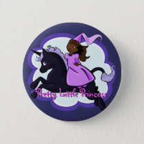 Princess & Unicorn Button