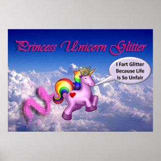 Princess Unicorn Glitter Poster