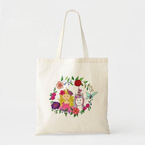 Princess & Unicorn Tote Bag