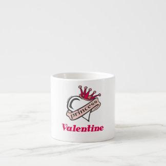 Princess Valentine Crown and Heart Espresso Cup