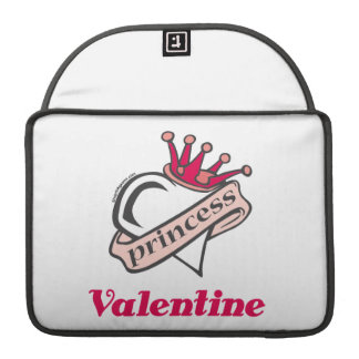 Princess Valentine Crown and Heart Sleeves For MacBook Pro