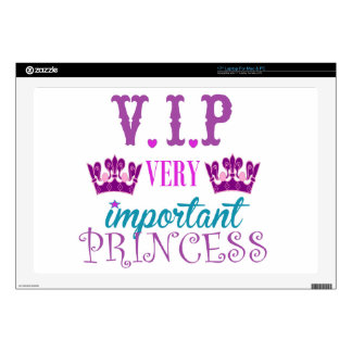 "Princess, VIP Decal For 17"" Laptop"
