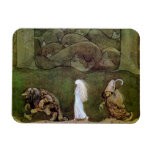 Princess Walking with Trolls Through Forest Rectangular Magnets